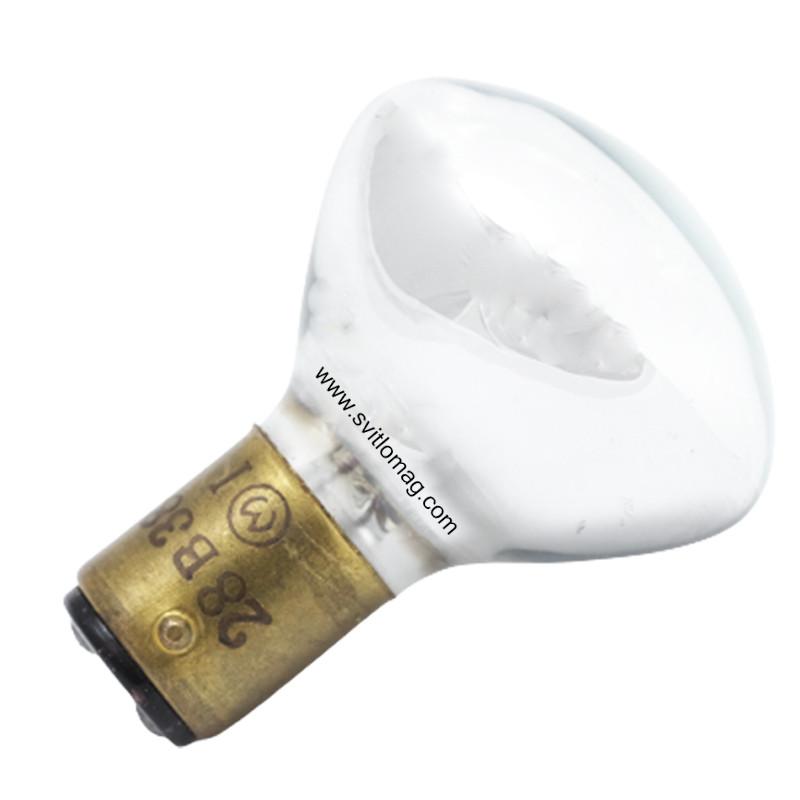 Лампа накаливания самолетная зеркальная СМЗ 28-38+38 B15d/18