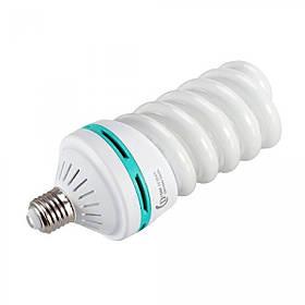 Флуоресцентна лампа для студійного світла Fotobestway 125 Вт (цоколь E27, 5500 K)