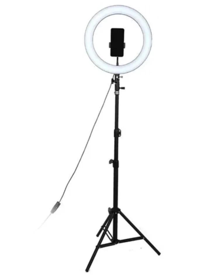 Светодиодная кольцевая LED лампа 20см USB + Штатив тренога