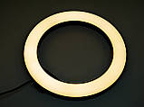 Светодиодная кольцевая LED лампа 20см USB + Штатив тренога, фото 6