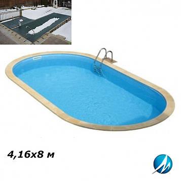 Зимовий накриття для басейну 4,16х8 м