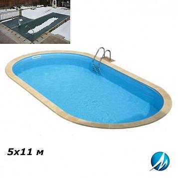 Зимове накриття для басейну 5х11 м
