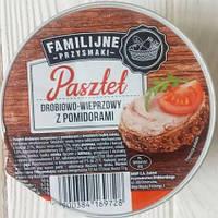 Паштет з птиці і свинини з томатами Familijne przysmaki 130 г
