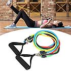 ОПТ Набор для атлетических упражнений трубчатых эспандеров для фитнеса Power Bands 5 жгутов, фото 2