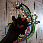 ОПТ Набор для атлетических упражнений трубчатых эспандеров для фитнеса Power Bands 5 жгутов, фото 4