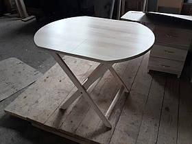 """Круглий стіл """"Компакт-овал"""" (дерев'яний, розкладний, БУК)"""