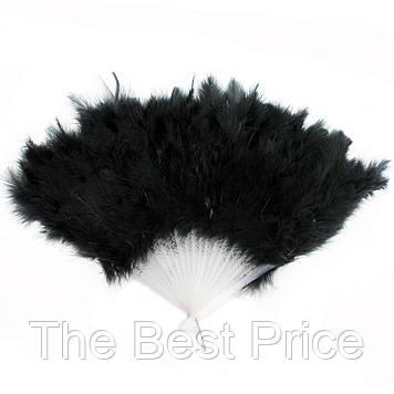 Веер перо (черный)