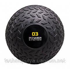 М'яч SlamBall для кросфита і фітнесу Power System PS-4114 3 кг Чорний