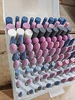 Набор каменных насадок боров шарошек для гравера  YDS, 100 шт