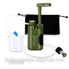 Похідний фільтр для води портативний туристичний Purewell 5000L 5000 літрів (100124)