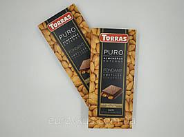 Шоколад Torras Puro Almendras Enteras Dark Chocolate with Whole Almonds 200g