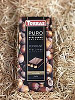 Шоколад Torras черный с цельным фундуком 200г