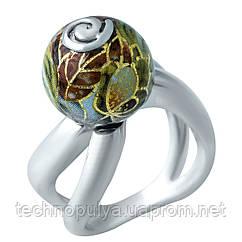 Серебряное кольцо SilverBreeze с емаллю 1929261 17.5 размер