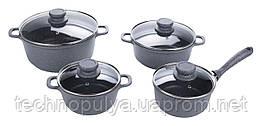 Набір посуду Edenberg з гранітним покриттям з 8 предметів Чорний (EB-9181)