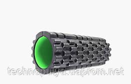 Масажний ролик Power System Fitness Foam Roller PS-4050 Чорно-зелений