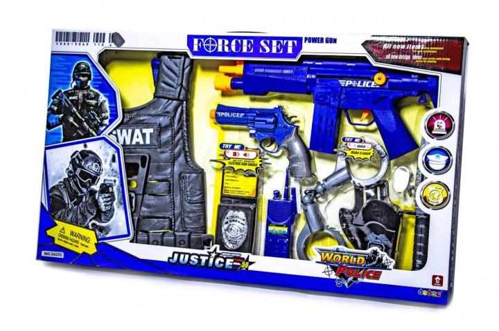 Дитячий набір поліцейського Toys SWAT з бронежилетом 34270
