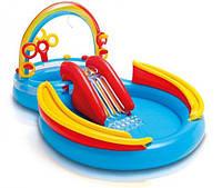 Игровой центр-бассейн надувной Intex Радуга 297x193x135см (57453)