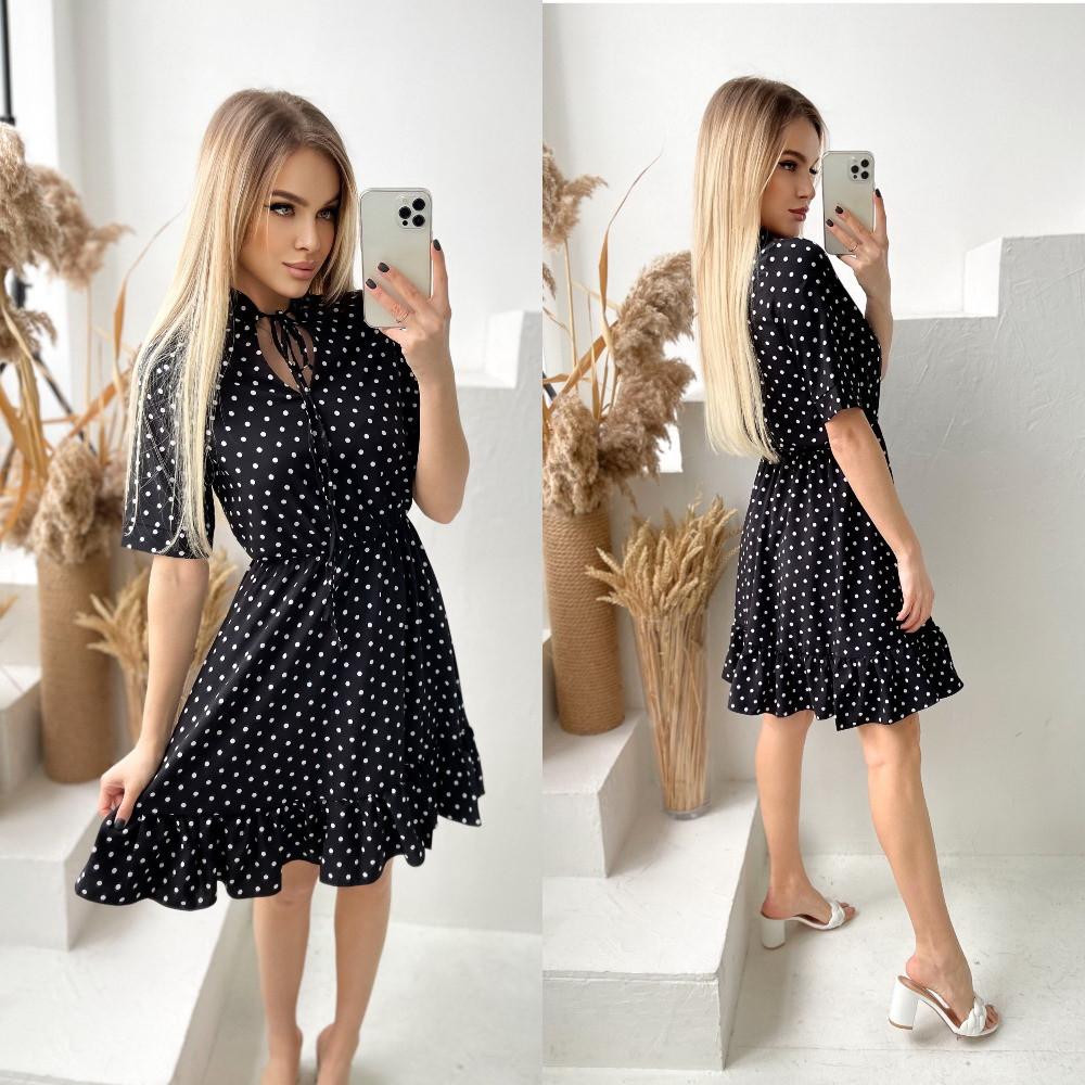 Женское платье, софт, р-р 42-44; 46-48 (чёрный)