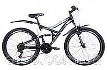 """Велосипед ST 26"""" Discovery CANYON AM2 Vbr рама-17,5"""" чорно-білий з сірим"""