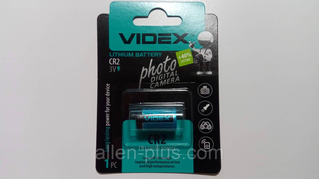 Батарейка литиевая Videx CR2 3V 1pc BLISTER CARD (20/200)