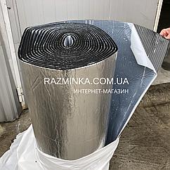 Вспененный каучук 6мм самоклеющийся фольгированный, рулон 1х30м (теплоизоляция)