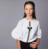 Детская одежда Моне, белая блузка р-ры 140,164, фото 1