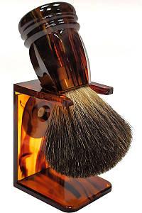 Помазок для бритья барсук Rainer Dittmar Pfeilring на подставке 1015-7-1 Коричневый