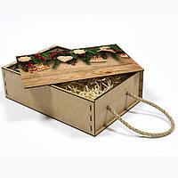 Новогодний подарочный бокс декорированный