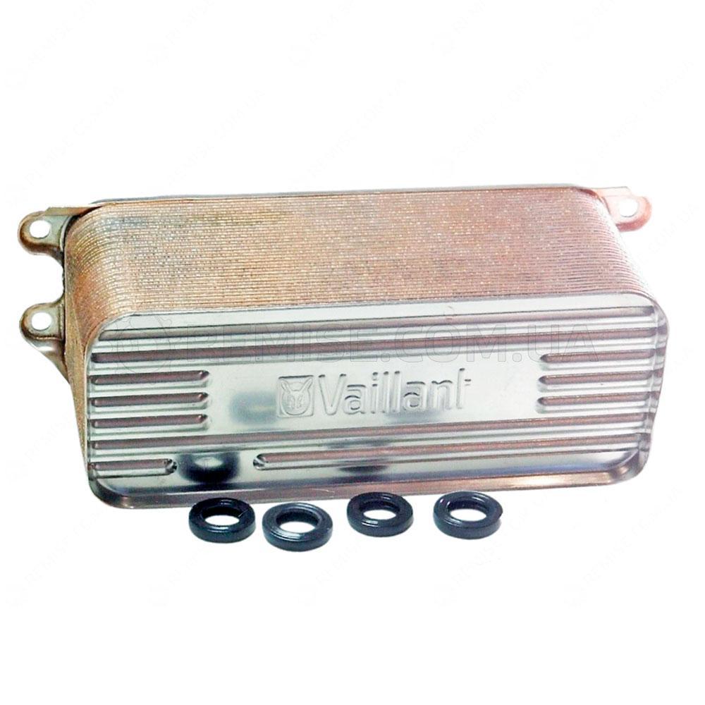 Вторичный теплообменник ГВС Vaillant turboTEC Plus 32кВт. 0020025041 0020016571