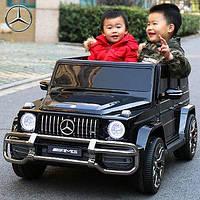 Детский электромобиль двухместный Мерседес Гелендваген Mercedes Gelandewagen G63, M 4259 EBLR-2 черный (белый)
