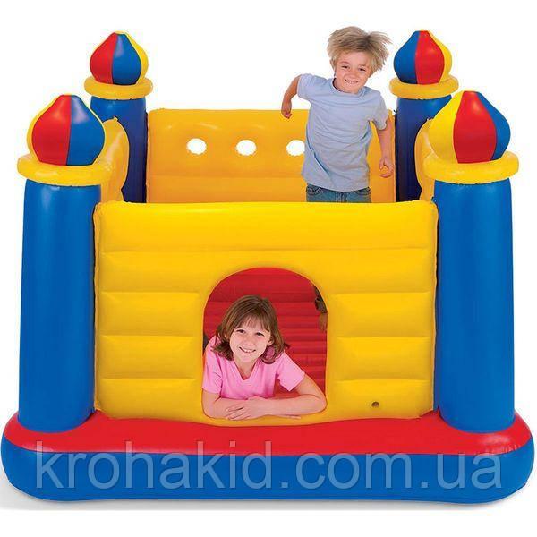 """Дитячий надувний ігровий батут Intex 48259 """"Замок"""" (175х175х135) / надувний ігровий центр"""