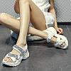 Річна жіноче взуття сандалі на платформі зі стразами і товстою підошвою, пляжне взуття