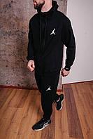 Спортивный костюм мужской черный Nike Jordan, натуральный хлопок + полиэстер   Спортивный костюм весенний