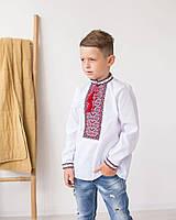 """Вышитая рубашка  вышиванка классическая """"Орнамент"""" 6-9 лет"""