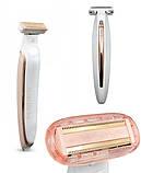 Електробритва тример на акумуляторі для видалення волосся з тіла Flawless Body, фото 3