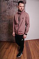 Спортивный костюм мужской капучино Nike Jordan, натуральный хлопок + полиэстер   Спортивный костюм весенний