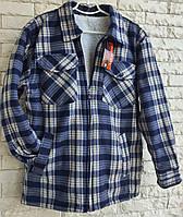 Рубашка теплая мужская на меху размер 48 в розницу