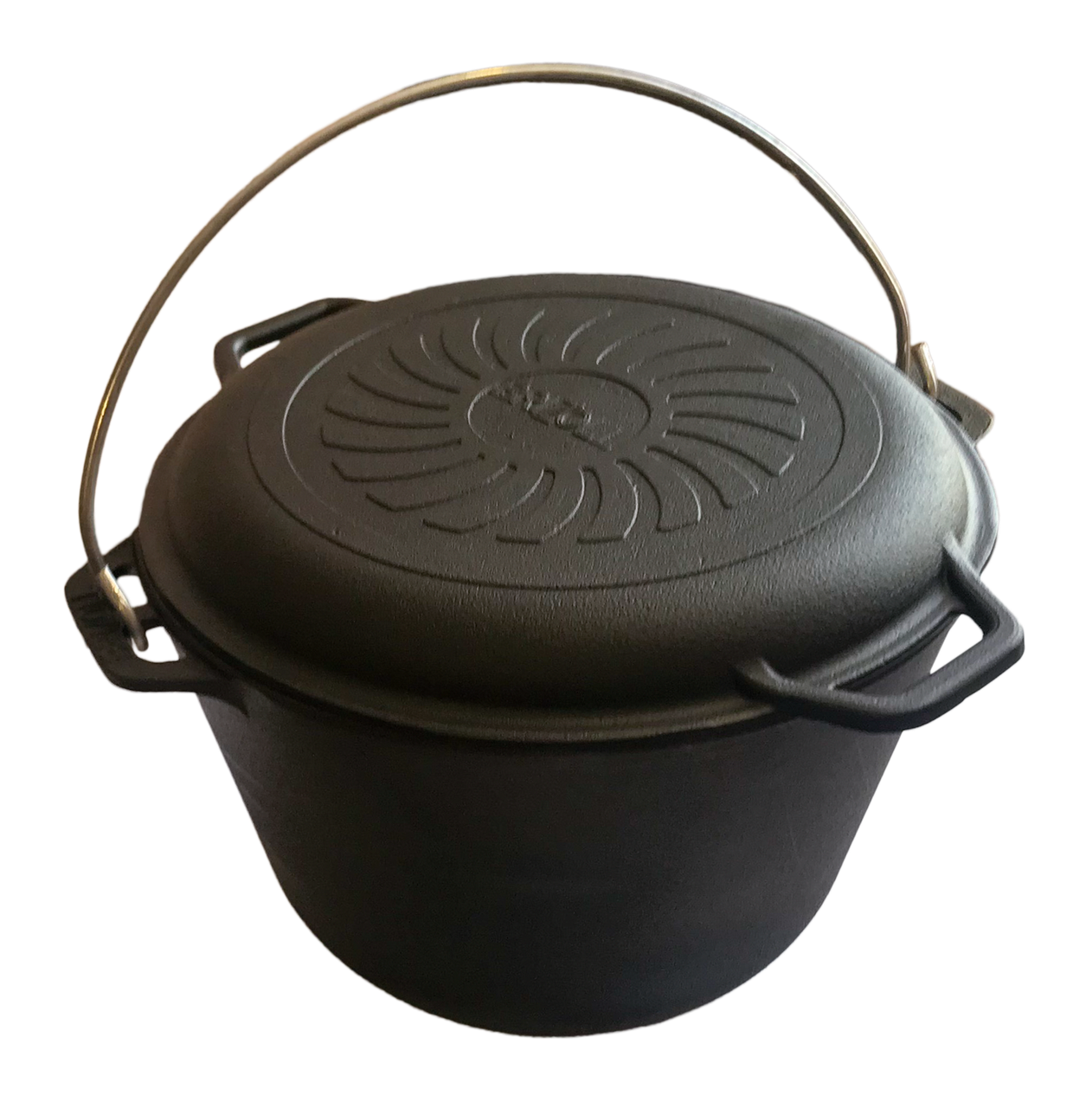 Казан чавунний туристичний Brizoll 8л з кришкою-сковородою Бризол
