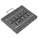 Мангал - валіза 2 мм на 6 шампурів 370х350х160мм Розкладний Похідний, фото 3