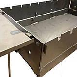 Мангал - валіза 3 мм на 9 шампурів зі столиками 570х300х150мм + Чохол + Набір шампурів + Стартер, фото 5