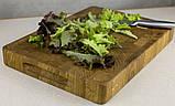 Торцевая разделочная доска ПикничОК из дуба 45х30х4 см, фото 3