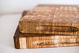 Торцевая разделочная доска ПикничОК из дуба 45х30х4 см, фото 7
