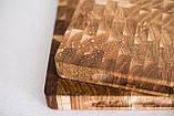 Торцевая разделочная доска ПикничОК из дуба 45х30х4 см, фото 10