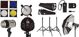 Набір імпульсного світла для фотостудії FST PHOTO EG-300DI IP33 + радиосинхронизатор