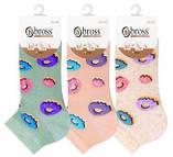 Шкарпетки жіночі укорочені Bross бавовна пончики, фото 5