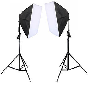 Набор постоянного студийного света Prolighting ( 60х90 см.софтбоксы на 5 ламп Е27 + стойка 2.2 м.)