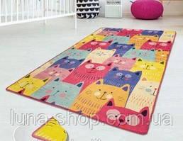 Коврик в детскую комнату Мордочки , 100х160 и 140х190, Турция