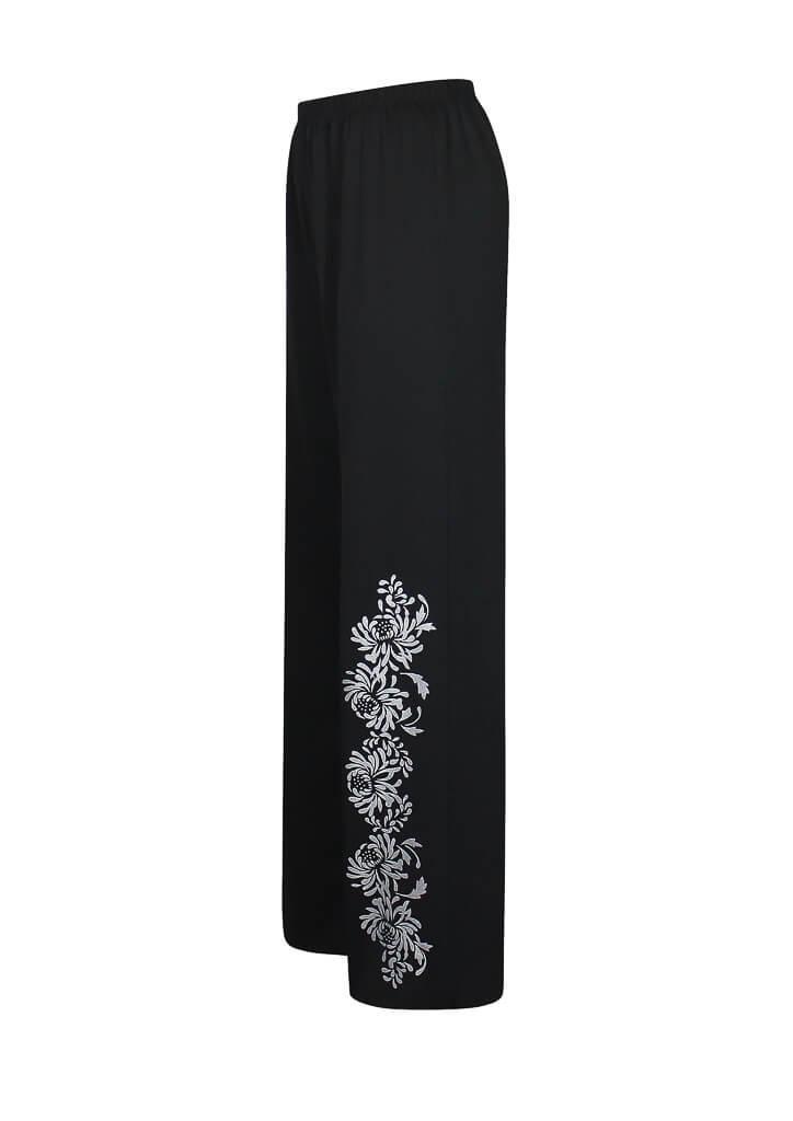 Женские брюки классического стиля Хризантемы