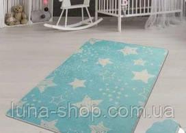 Коврик в детскую комнату Звезды, 100х160 и 140х190, Турция