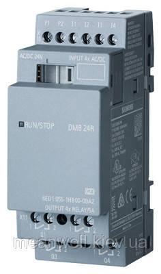 6ED1055-1HB00-0BA2 LOGO! DM8 24R Дискретний модуль розширення LOGO!8